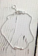Sterling Silver Tiny Arrow Bracelet