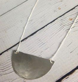 """Sterling Silver """"Jupiter"""" Necklace - hammered half moon"""