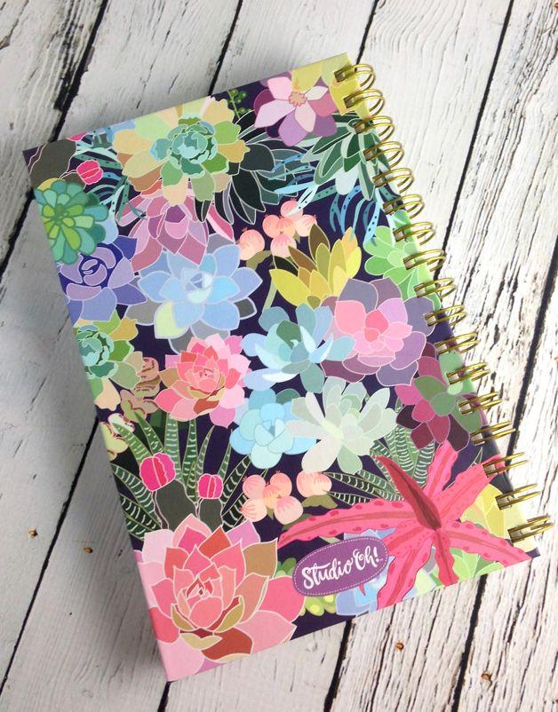 Succulent Paradise Spiral Journal