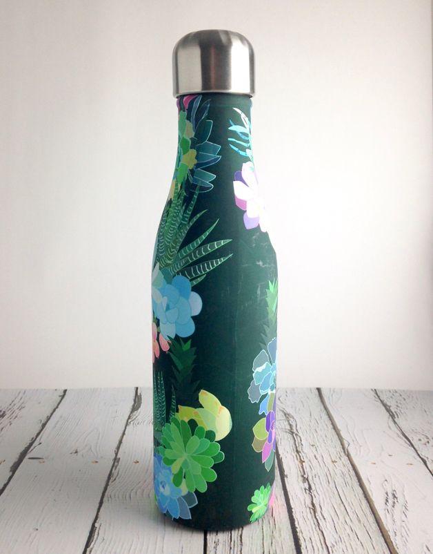 Succulents Water Bottle