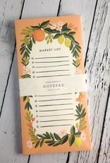 Coral Citrus Floral Market Pad
