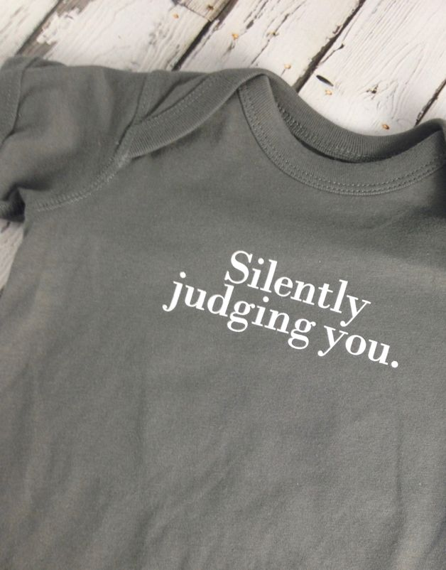 Silently Judging You Onesie 6-12m