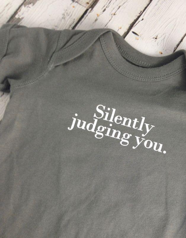Silently Judging You Onesie 6-12m
