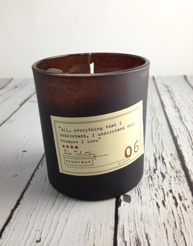 Leo Tolstoy Black Plum + Persimmon + Oakmoss Candle