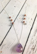 Handmade Silver Necklace with Ametrine, Labradorite, Sandalwood