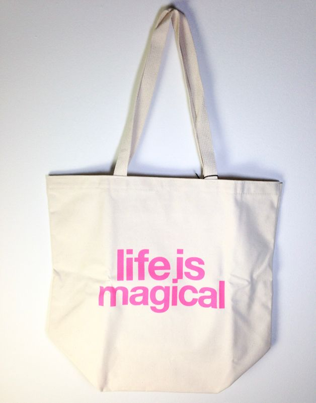 """""""Life is Magical"""" Big Canvas Tote"""