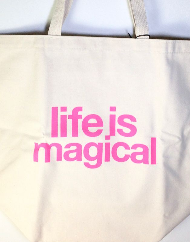 """Life is Magical"" Big Canvas Tote"
