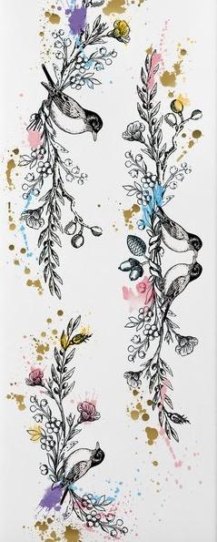 Love Birds Temporary Tattoo
