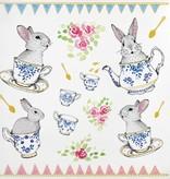 The Rabbits Tea Party Temporary Tattoo