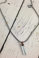 """Aquamarine Crystal 18"""" Sterling Chain Necklace"""