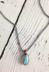"""Polished Opal electroformed Pendant on 18"""" Sterling Silver Chain"""
