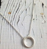 Handmade Sterling Silver Retro Ring Necklace