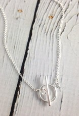 Handmade Sterling Silver Toggle Necklace