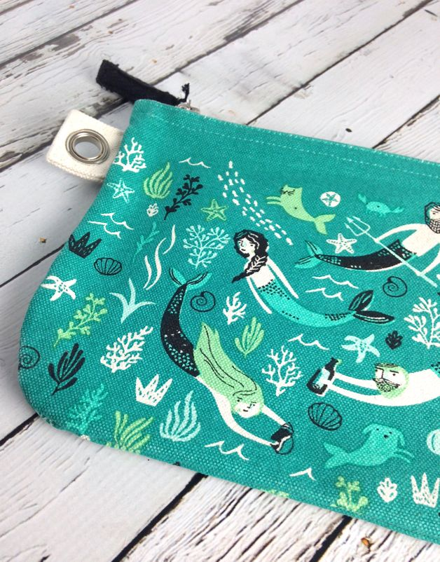 Zip Pouch Large Sea Spell