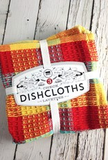 Lemon Check Dishcloths, Set of 3