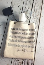 Hemingway Quote Flask