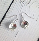 Handstamped Indiana Double Heart Earrings