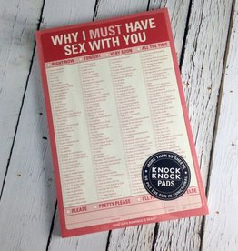 Why I Must Have Sex With You Notepad