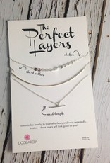 The Perfect Layers Set of 3 Necklaces with Delicate Bar Collar