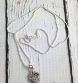 Handmade Sterling Silver Human Heart Charm by Dream Mullick on Sterling Silver Necklace