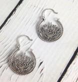 Handmade Sterling Silver Balinese style Mini Lotus Basket Earrings by Dream Mullick