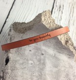 LaurelDenise Adjustable Leather Bracelet, be you bravely, auburn