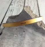 LaurelDenise Adjustable Leather Bracelet, loved, gold