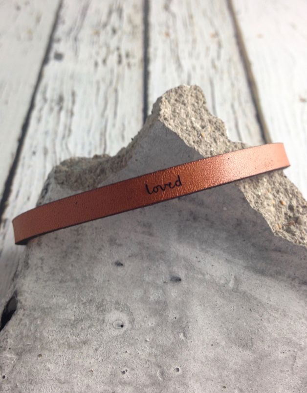 LaurelDenise Adjustable Leather Bracelet, loved, auburn