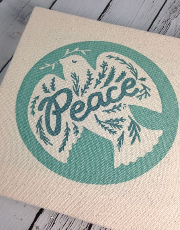 Peace Dove 8x8 Canvas