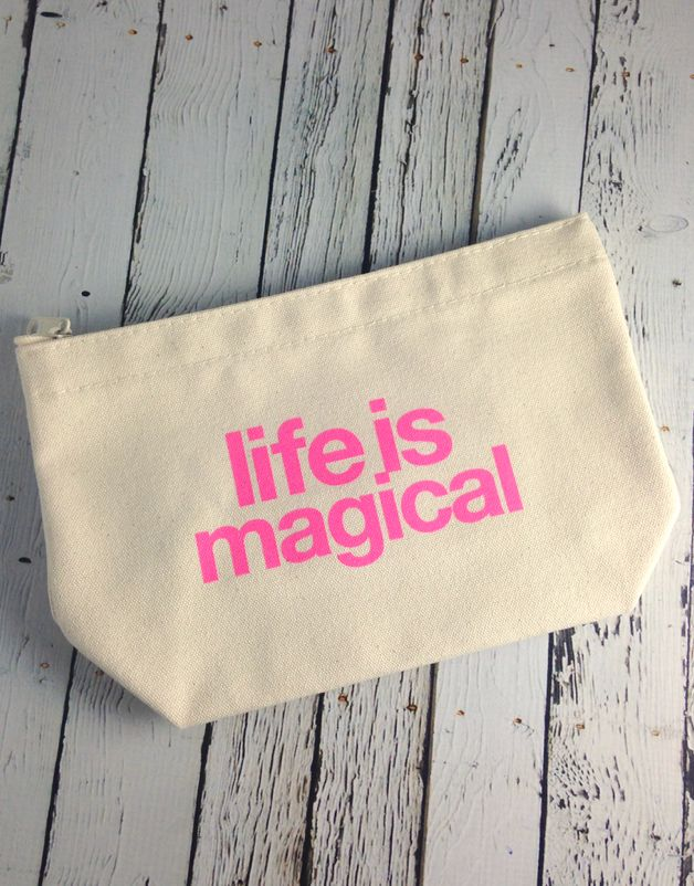 Life is Magical Canvas Lil' Zip Bag
