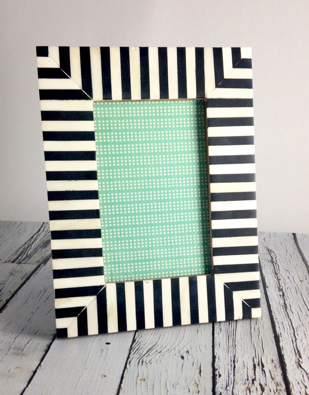 Large Black & White Striped Frame