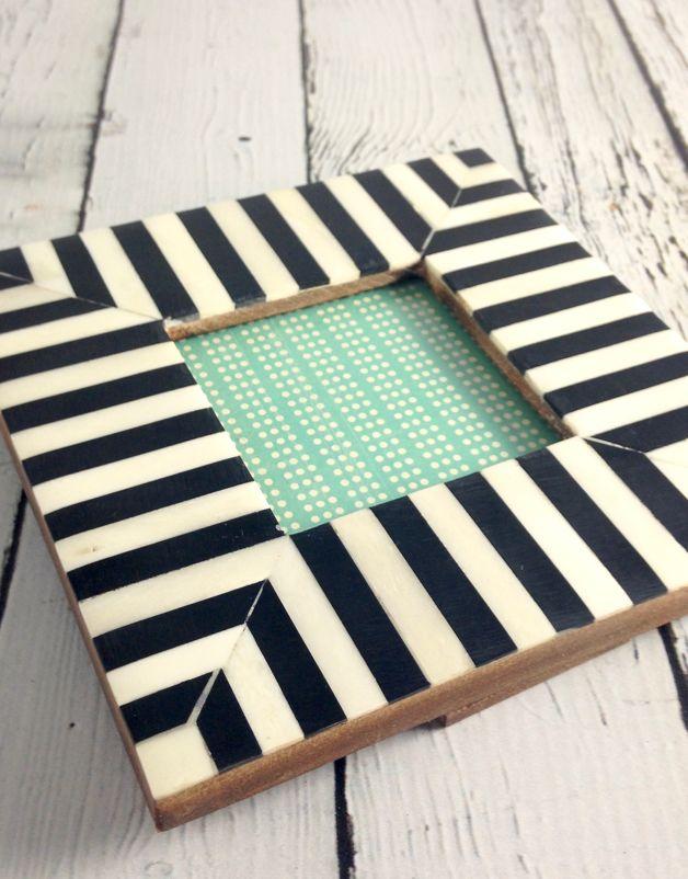Small Black & White Striped Frame
