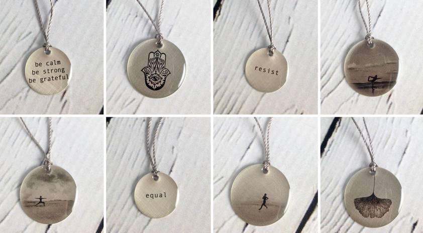 New Lithograph Necklaces from Everyday Artifacts