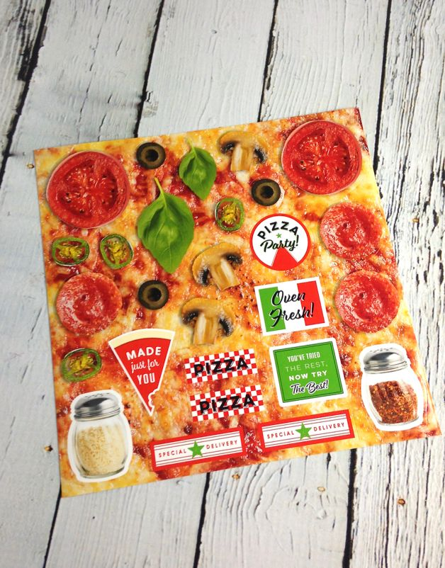 Pizza Party 12 Notecards & Envelopes