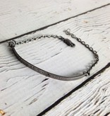 """Handmade Oxidized Silver Bracelet with """"Nevertheless She Persisted"""""""
