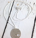 Handstamped Boy Stole My Heart Mom Necklace