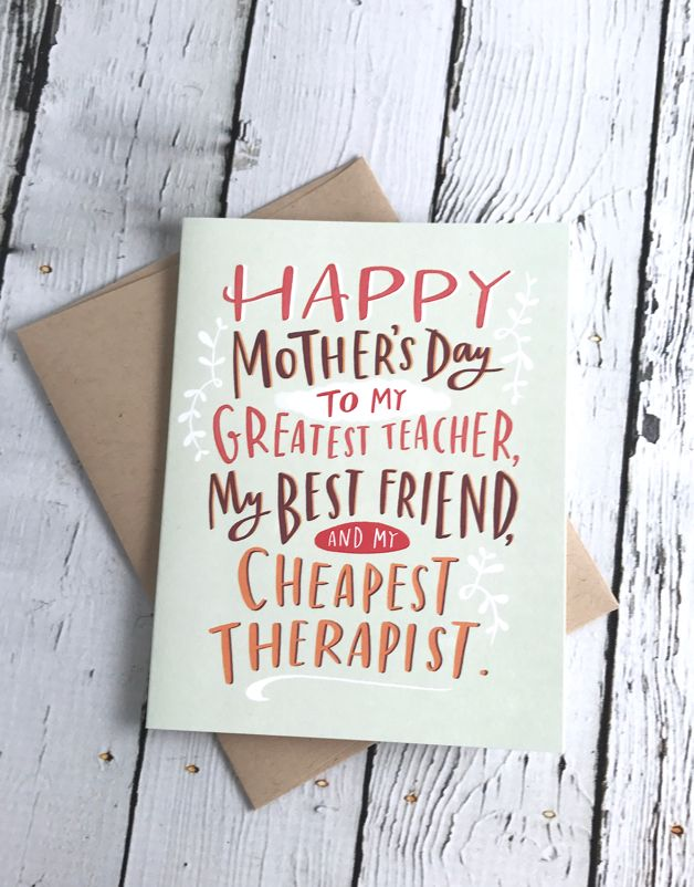 Cheapist Therapist Mom Card
