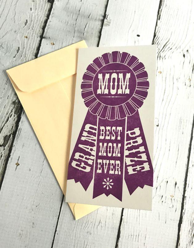 Letterpress Grand Prize Mom Card