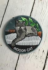 Indoor Cat Iron-On Patch