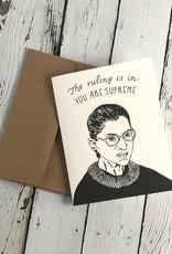 Ruth Bader Ginsburg Card