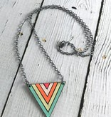 Handmade Painted Birch Dawn Necklace on Sterling Silver Chain