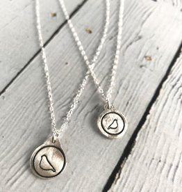 Figs&Ginger Mama Bird & Baby Bird Set of 2 Recycled Sterling Silver Necklaces by Figs & Ginger