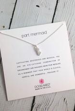 Handmade Sterling Silver part mermaid, enchanted mermaid charm necklace