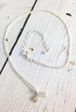 Handmade Sterling Silver shining star star light shooting star charm necklace