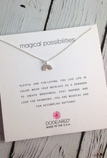 Handmade Sterling Silver magical possibilities rainbow charm necklace