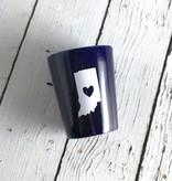 NIckRassi Ceramic Indiana Heart Shot Glass