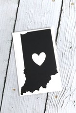 Black Indiana Heart Cutout Sticker