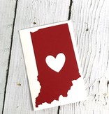 Red Indiana Heart Cutout Sticker