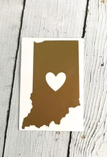 Gold Indiana Heart Cutout Sticker