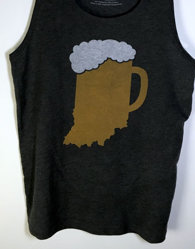 Indiana Beer Mug Tank Top